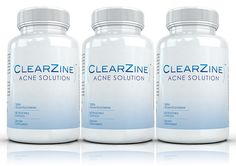 ClearZine (3 Bottles) - The All Natural Acne Treatment Supplement. Clear Skin and Eliminate Blotchiness, Redness, Blackheads and Zits ** You can get additional details at the image link.