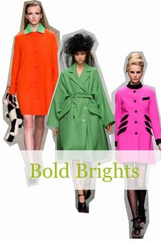 Whether it was the pop colour coats at PPQ or the funky retro colour clashes at House of Holland, London was lovin' the bold brights.