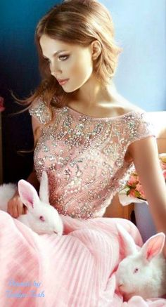 Pink and Bunnies...Two of my favorite things!