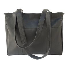 Piel Leather Rectangular Tote None