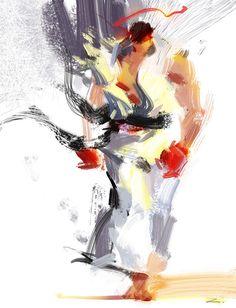 Street Fighter art by *zhuzhu