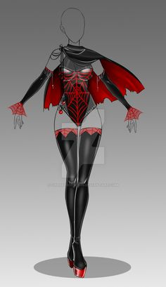 (closed) Auction Adopt - Outfit 265 by CherrysDesigns Looks like it could make a cool costume Clothing Sketches, Dress Sketches, Drawing Anime Clothes, Dress Drawing, Super Hero Outfits, Super Hero Costumes, Fashion Design Drawings, Fashion Sketches, Anime Outfits