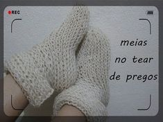 meias no tear de pregos - YouTube