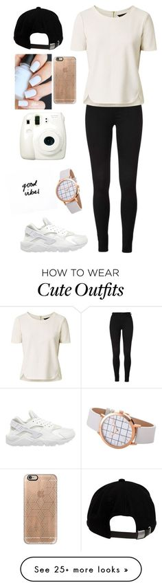 """""""Cute outfit"""" by blasianmia on Polyvore featuring Brixton, Fuji, Casetify and NIKE"""