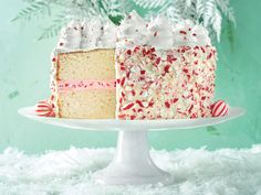 Southern Living Peppermint Cake with Seven-Minute Frosting