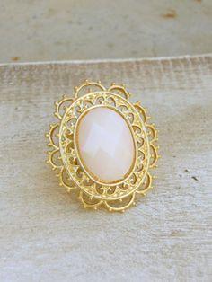 Golden Filigree Ring [3985] - $12.00 : Vintage Inspired Clothing & Affordable Summer Frocks, deloom | Modern. Vintage. Crafted.