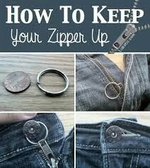 Keep you zippers up!