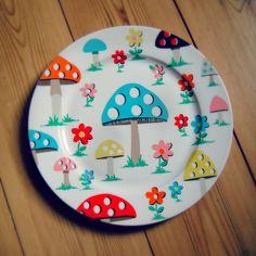 Cath Kidston mushroom plate