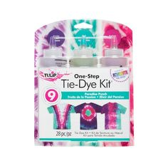 Tulip® One-Step Tie-Dye Kit®, Small in Paradise Punch Tie Dye Supplies, Craft Supplies, Diy Tie Dye Techniques, Painting Techniques, Tulip Tie Dye, Best Gift Cards, Diy Tie Dye Shirts, Tie Dye Crafts, Diy Crafts
