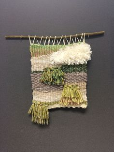Weave a wall hanging! Instructions on making the loom out of foam board included.