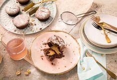 Lava-Cakes mit flüssigem Erdnussbutterkern » Einfach Lecker » Rezeptideen für jeden Tag » Rezeptideen für jeden Tag Muffins, Lava Cakes, Donuts, Brownies, Cravings, Peanut Butter, Pudding, Cupcakes, Plates