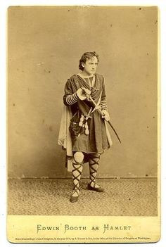 Edwin Booth made his stage debut in1848 in the play Richard lll.