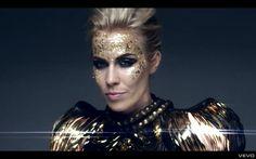 "Natasha Bedingfield - ""Strip Me"" 20s Fashion, Fashion Beauty, Natasha Bedingfield, Sparkly Makeup, Closed Eyes, Dressed To The Nines, My Music, Going Out, Music Videos"