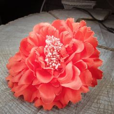 Peony Flower Hair Clip  #craft365.com