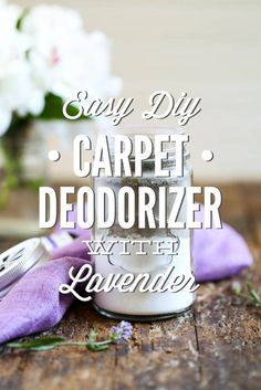 Easy DIY Carpet Deodorizer with Lavender - Live Simply