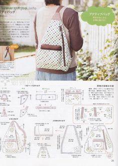 Best 12 Sewing Backpack Pattern Diy Fabrics 68 New Ideas - Empire Vital Handbag Patterns, Bag Patterns To Sew, Sewing Patterns, Sewing Tutorials, Patchwork Bags, Quilted Bag, Bag Quilt, Diy Sac, Backpack Pattern