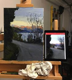Progress Shot 13, Step By Step Painting Tutorial - Afternoon In Queenstown