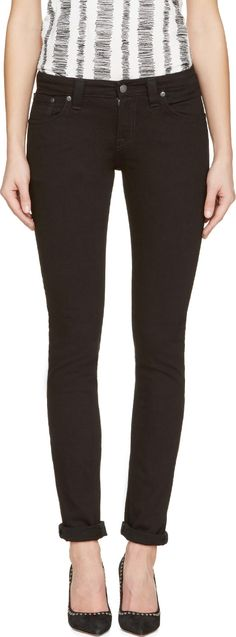 Nudie Jeans Black Tight Long John Jeans