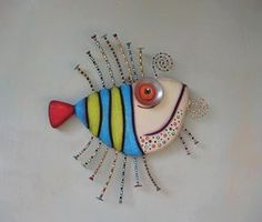 Frenchy, Original Found Object Sculpture, Wall Art, Wood Carving, Wall Decor, by Fig Jam Studio