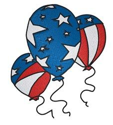 Patriotic Balloons embroidery design