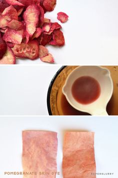 Pomegranate skin for natural dyes, directions