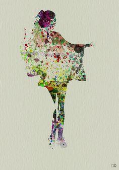 size: Art Print: Kimono Dancer Wall Art by NaxArt : Entertainment Geisha Art, Painting Of Girl, Tropical Art, Beautiful Paintings, Figurative Art, Lovers Art, Female Art, Find Art, Fine Art America