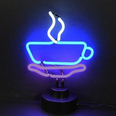 Shine brighter with our Coffee Cup Neon Sculpture! Each of our stand up Neon Lights will fill your home or business with a fun and stylish flare. Coffee Love, Coffee Cups, Coffee Shop, Coffee Coffee, Neon Aesthetic, Aquarius Aesthetic, Neon Glow, Coffee Signs, Business Signs