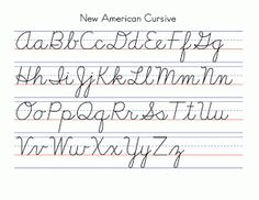 A To Z Cursive Letters  View Cursive Letters AZS Handwriting