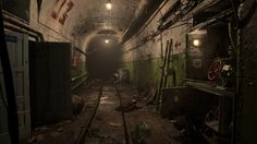 Redshift Benchmark scene competition entry: The Tunnel, Michal Gradziel on ArtStation at https://www.artstation.com/artwork/rOa36