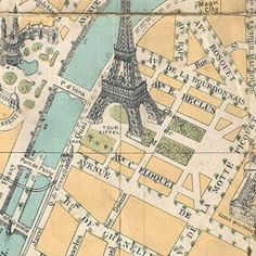 Map of Paris 1890 | Old Maps of Paris : printables