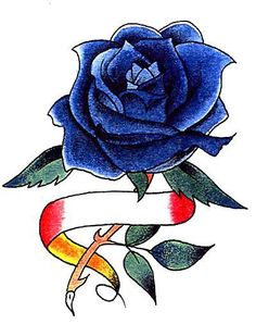 4678d7e5d Bit dark but still pretty Blue Rose Tattoos, Cute Tattoos, Blue Roses,  Tattoo