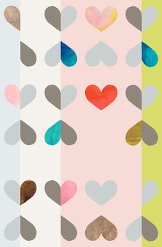 Timothy Sue Removable Wallpaper - Hearts Apart