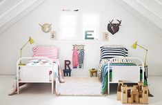 The Best Shared Kids Room Ideas + The Cutest Bedding Ever #HannaHome