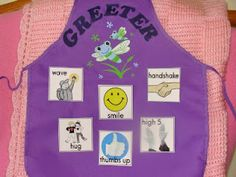 Classroom Job – Door Greeter- they choose how they would like to be greeted in the morning. Classroom Job – Door Greeter- they choose how they would like to be greeted in the morning. Preschool Classroom Jobs, New Classroom, Classroom Design, Classroom Organization, Preschool Activities, Classroom Management, Classroom Ideas, Classroom Projects, Kindergarten