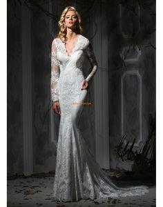 Krajkový vzhled Elegantní & luxusní Jaro Svatební šaty 2015