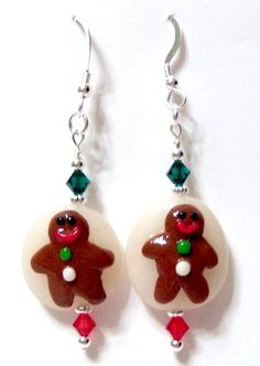 Gingerbread Person Swarovski Crystal Sterling by OklahomaMama, $5.00