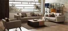 Great inspirations from wide range of living room suites. Suites include three seater, two seater and an armchair. Decor Interior Design, Interior Decorating, Sofa, Couch, Armchair, Living Room, Modern, Inspiration, Furniture