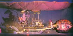 """Dreamfinder's Dreamcatcher machine at Epcot's """"Journey into Imagination"""" ride with Figment"""
