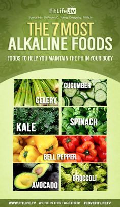 The 7 Most Alkaline Foods! Add them to your diet. #thewholejourney #twj