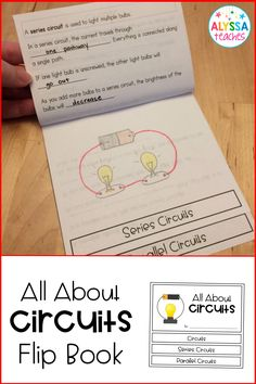 This fun double-sided mini flip book is a great way for students to record their learning about simple, series, and parallel circuits!