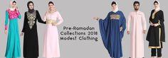 Ramadan Eid Collections 2018 - Modest Fashion Clothing - Abaya - Hijab - Caftan - Thobes  #abaya #hijab #hijabfashion #hijabstyle #hijabista #clothing #fashionillustration #fashionblogging #kaftan #caftan #jilbab