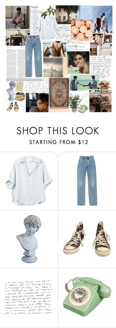 """""""♡ IS IT BETTER TO SPEAK OR DIE? ♡"""" by heartbreakmotel ❤ liked on Polyvore featuring GET LOST, ASOS, Alix, Orlandi Statuary, Converse and Mon Cheri"""