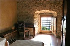One of the chambers of the Fortress Monastery of Santo Spirito in Ocre near L'Aquila in Abruzzo Italy Interior Architecture, Interior And Exterior, Home Altar, The Cloisters, Meditation Space, The Monks, Kirchen, My Dream Home, New Homes