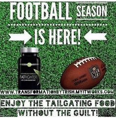 Who else loves some yummy food while watching #football? I do! Eat what you want during one meal and block out 70% of the carbs with #fatfighter for #fatloss ! Ask me how to be a product tester and get for only $23! -#tailgate #footballseasonishere #footballgame #producttester needed!