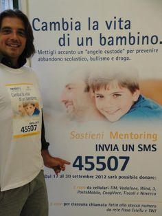 Sergio Occhinegro sostiene il progetto #cambia la vita di un bambino: sostieni mentoring al 45507