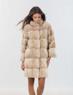 Azure Mink Fur Jacket. Real Fur Coats and Accessories. | Mink fur ...