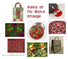 """""""Extra Salsa at No Charge"""" by sweetchildjewelry ❤ liked on Polyvore featuring interior, interiors, interior design, home, home decor, interior decorating and Salsa"""