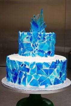 Cupcake Recipes, Cupcake Cakes, Cupcakes, Frozen Birthday Cake, Frozen Party, Birthday Cakes, Queen Cakes, Cool Cake Designs, Blueberry Cake