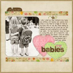 I am really wanting to try this type of scrapbooking.  I do not know about my handwriting...I need to learn caligraphy
