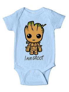 Groot infant bodysuit toddler shirt baby one piece I am